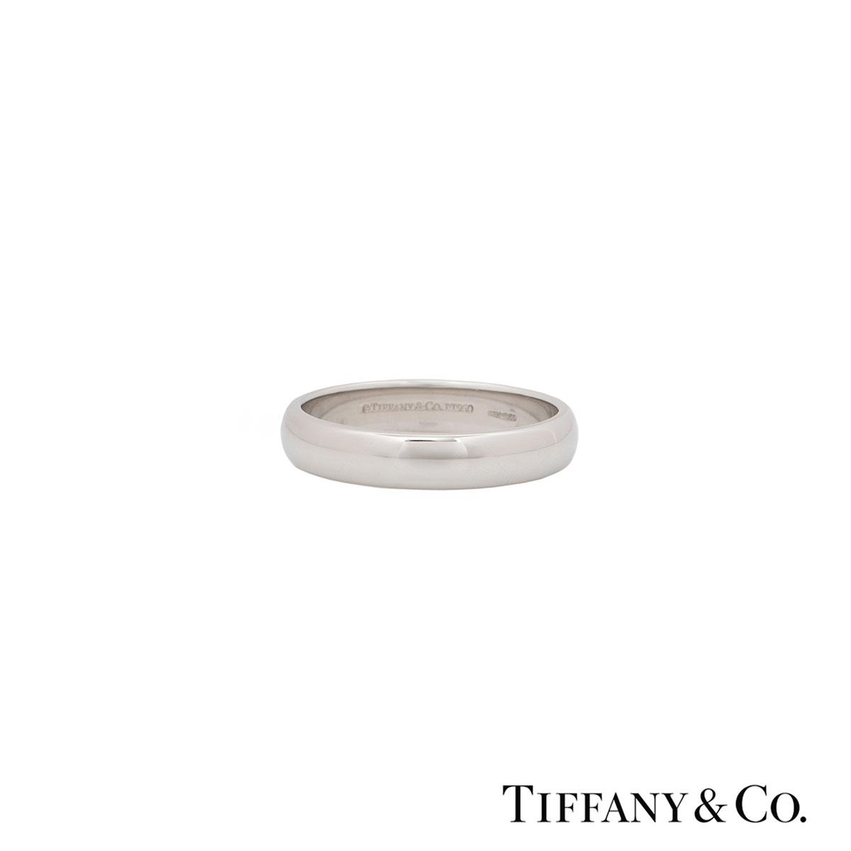 Tiffany & Co. Platinum Lucida Wedding Band
